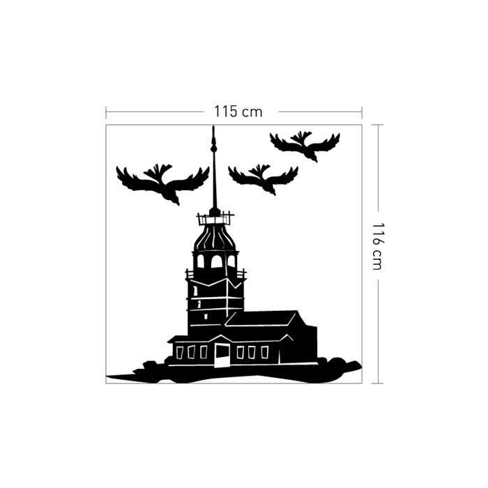 Işyeri Duvar Sticker Kız Kulesi Kadife Duvar Sticker 115x116 Cm