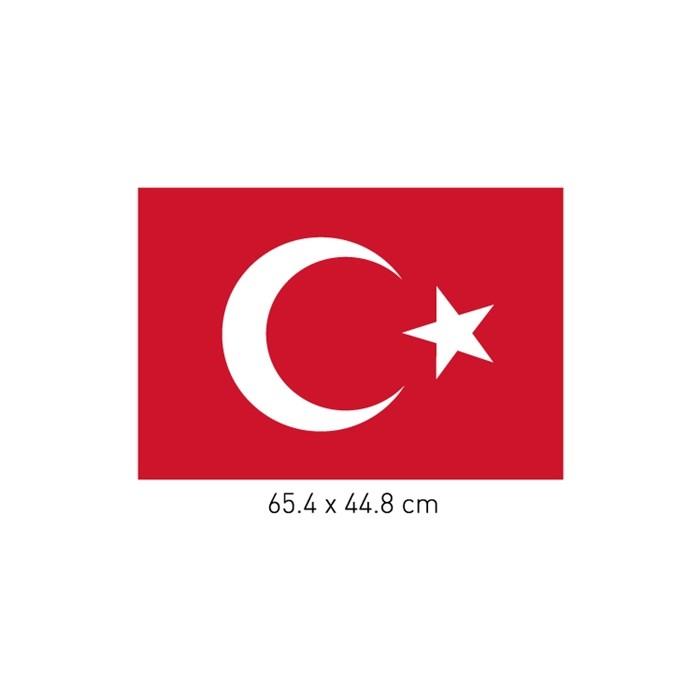 Işyeri Duvar Sticker Türk Bayrağı Kadife Duvar Sticker 65x44 Cm