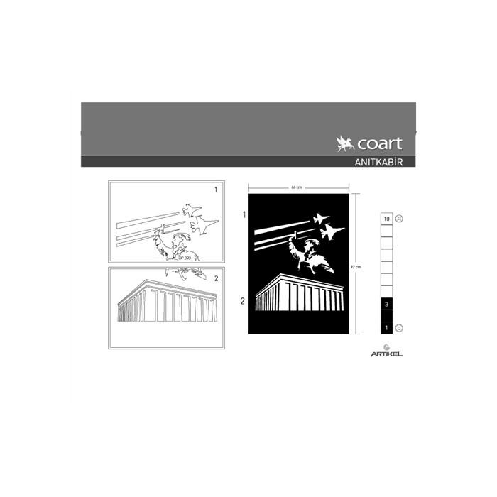 Işyeri Duvar Sticker Anıtkabir Kadife Duvar Sticker 66x92 Cm