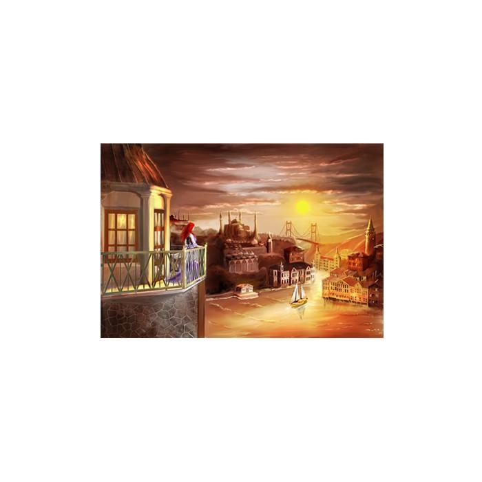 Sanat Tasarim Duvar Resmi Kız Kulesi 178x126 Cm Duvar Resmi