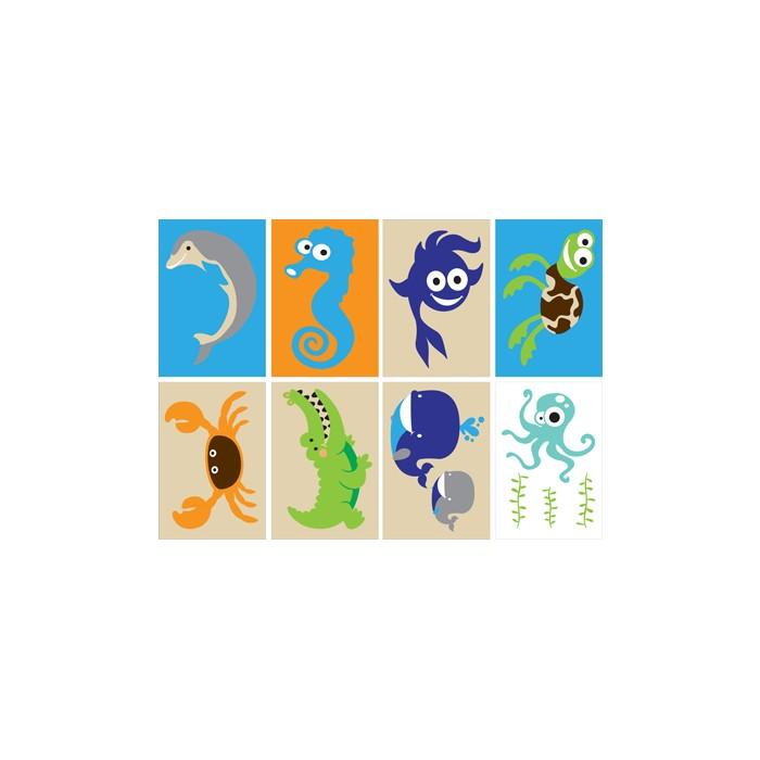 Tuz Boyama Seti Deniz Hayvanları Tb 002 165x23 Cm