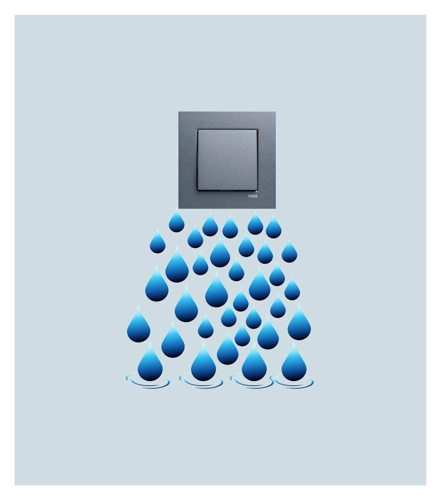 Renkli Priz Sticker Disney Su Damlası Priz Sticker