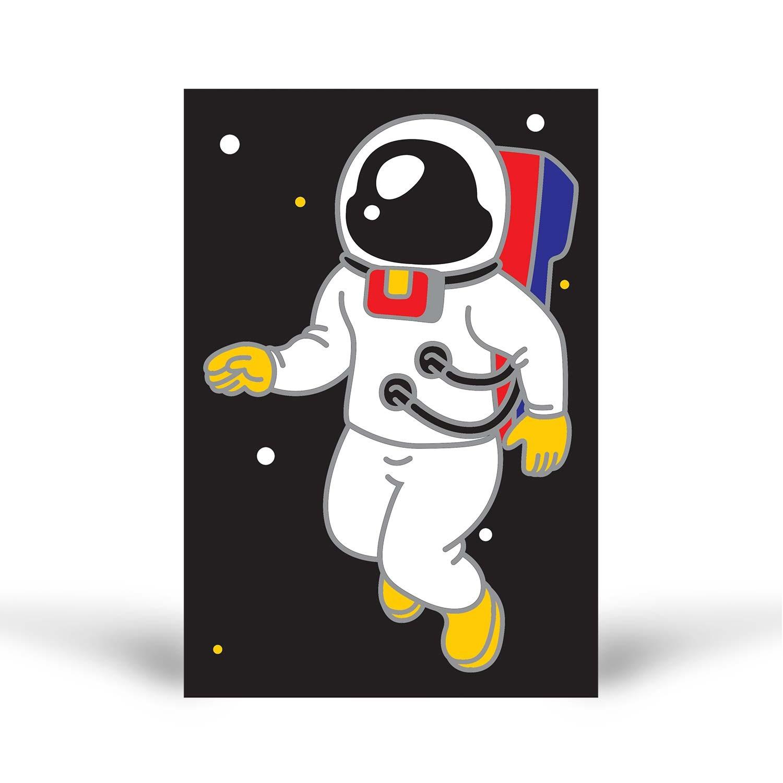 Tuz Boyama Astronot 2 Tuz Boyama