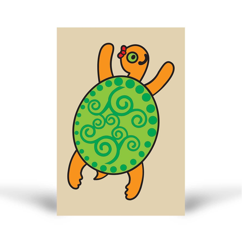 Tuz Boyama Sevimli Kaplumbağa Tuz Boyama