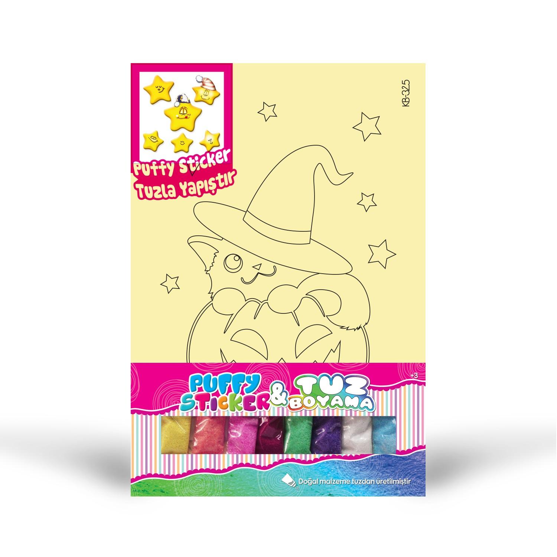 Puffy Sticker Tuz Boyama Artikel Kb 325 Kedi Tuz Boyama Yildiz