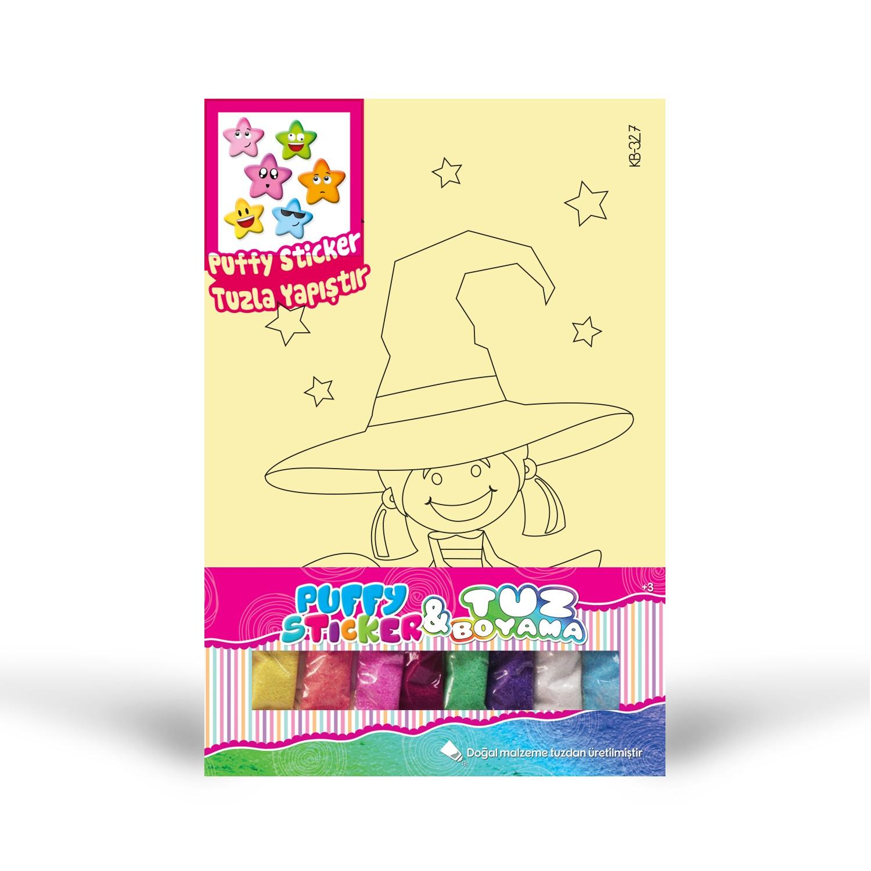 Puffy Sticker Tuz Boyama Artikel Kb 327 Kiz çocuğu Tuz Boyama