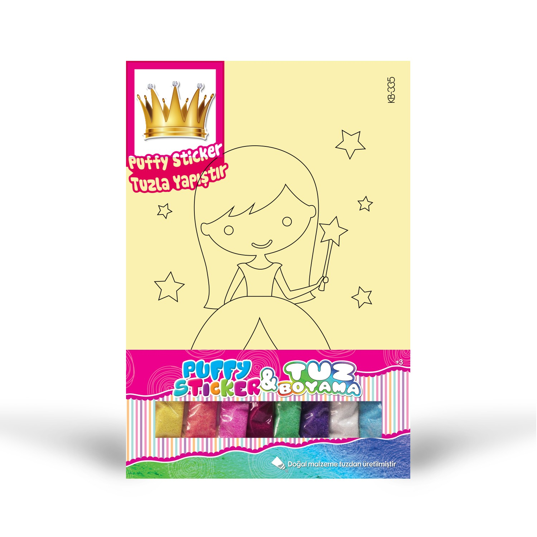 Puffy Sticker Tuz Boyama Artikel Kb 335 Prenses 1 Tuz Boyama